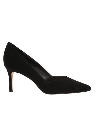 Nine West İnce Topuklu %100 Süet Ayakkabı Siyah